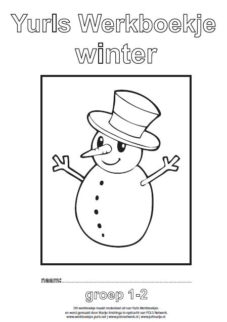 Knipsel werkboekje winter